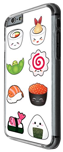 950 - Cool cute fun food sushi rolls food lovers japanese maki california roll illustration art kawaii doodle Design For iphone 6 Plus / iphone 6 Plus S 5.5'' Fashion Trend CASE Back COVER Plastic&Thi
