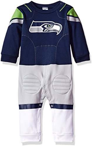 NFL Seattle Seahawks Boys Footysuit, 12 Months, Navy
