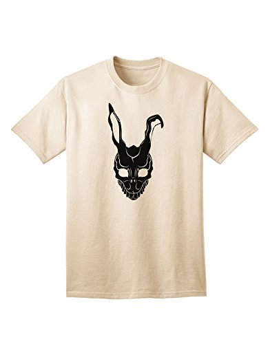 [TooLoud Scary Bunny Face Black Adult T-Shirt - Natural - Medium] (Frank The Bunny Costume High Quality)