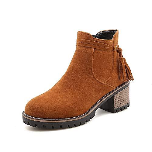 E Con Alti Stivaletti Da Women's Boots Largo Donna Brown Basso Tacco CUwqn8Xn