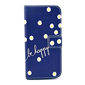 PIZU Retro Colorful Printed Hasp Magnet Button Buckle Wallet Flip Cover Case Stand Credit Card ID Holders PU Leather Case For Huawei Ascend Y530 C8813 Blue Be Happy