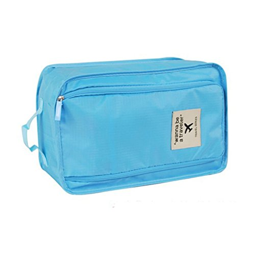 Price comparison product image Starsource High Quality Nylon Waterproof Travel Shoe Bags Carry Shoes Storage Case Shoes Box Organiser Colourful with Handle