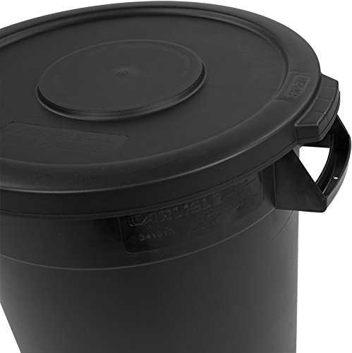 Carlisle 34101003 Bronco Round Waste Container Only, 10 Gallon, Black by Carlisle (Image #4)