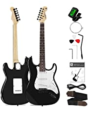 Vangoa Full Size 39 Inch Electric Guitar Beginner Starter Kit with Instruction Book, Strap, String, Tuner, Cable, Picks and Tremolo Bar