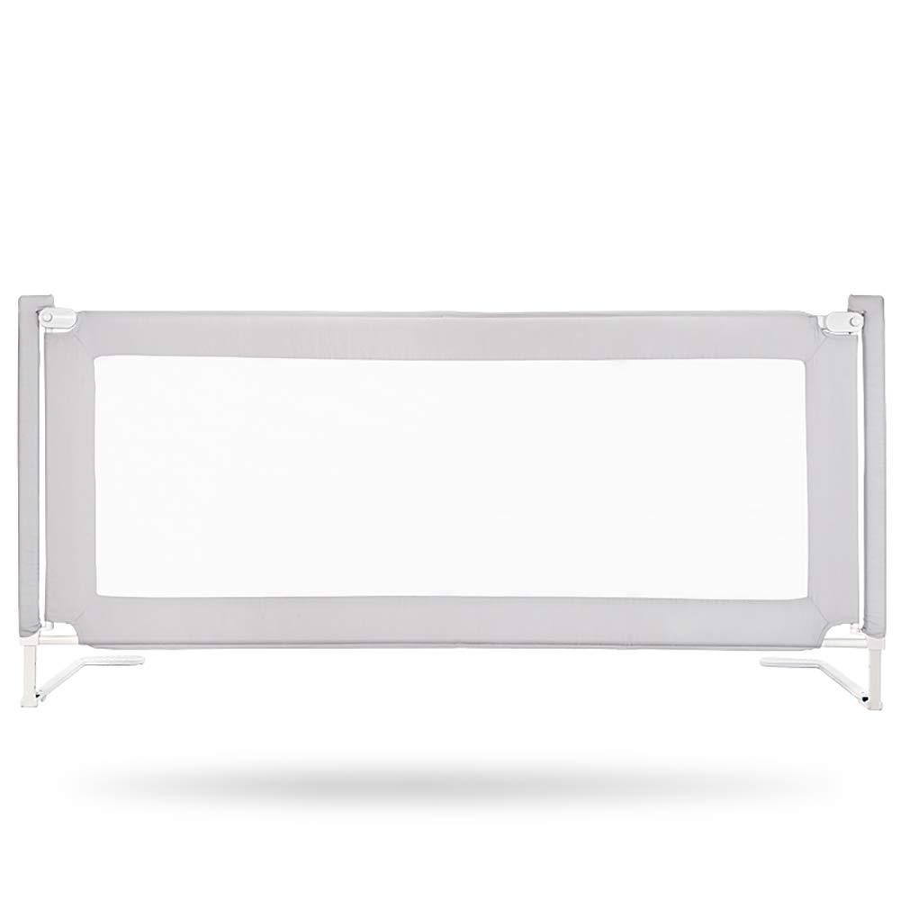 ベッドフェンス- 灰色のアンチコリジョンベッドレール(幼児用)、垂直昇降安全ベッドガード(シングル/ダブルベッド用) (サイズ さいず : 180cm) 180cm  B07KQSHKL7