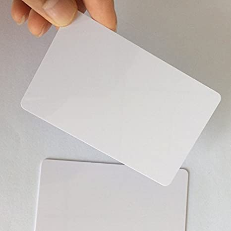 graphic relating to Printable Contact Paper named VMS Knowledgeable PVC Card for Inkjet Printers (Get hold of Intelligent Card, Aadhar Card, University Identity, Gate P,Blank Card, Make contact with IC Card) White Printable