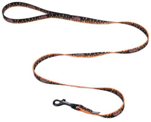 Harley-Davidson Flames Bar & Shield Nylon Leash 3/8'' x 4' Black H0364-FHD04