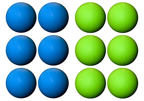 Assorted Color Lacrosse Balls 6 Blue 6 Green