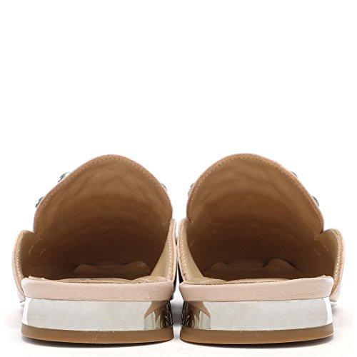 Rocka Cloutés En Mocassins Cuir Beige Backless Leather Daniel PZS6qdWnd