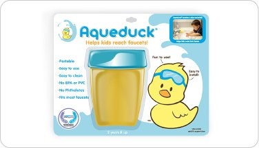 Aqueduck The ORIGINAL Faucet Extender (Created by a Loving Mom) Faucet Extender Infant Baby Bath by BABY-TOY