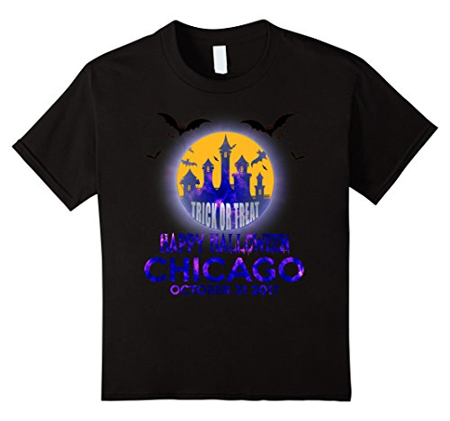 Kids Happy Halloween Chicago 2017 Shirt 6 Black
