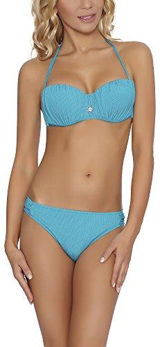 Feba Damen Push Up Bikini Set 92GG6 Türkis an8nN