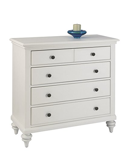 Bermuda TV Media Chest Brushed White Finish