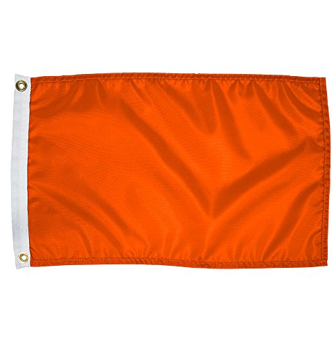 Search 'N Rescue Unisex Blank Flag 12x18 Blank Flag, Orange, 12''X18'' by Search 'N Rescue