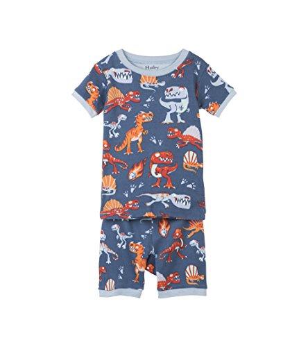 Hatley Little Boys' Organic Cotton Short Sleeve Printed Pajama Set, Volcanoes/Dinos, 3 (Hatley Pj Set)