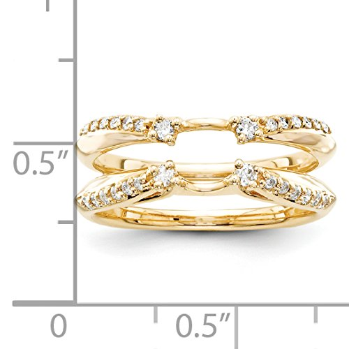 14k Yellow Gold Diamond Ring Guard (Color H-I, Clarity SI2-I1)