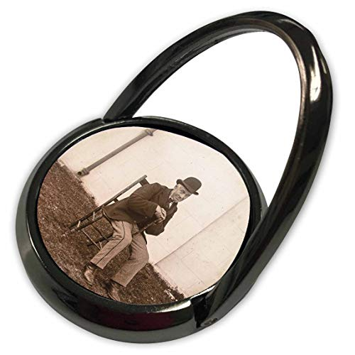 3dRose Scenes from The Past - Magic Lantern - 1890 Photo Gentleman with Derby Cap Vintage Portrait - Phone Ring (phr_301247_1)