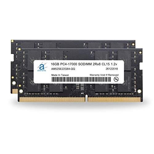Adamanta 32GB (2x16GB) Laptop Memory Upgrade DDR4 2133Mhz PC4-17000 SODIMM 2Rx8 CL15 1.2v Notebook DRAM RAM ()