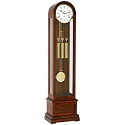 Hermle 01087030461 Charlotte Round Top Floor Clock - Walnut