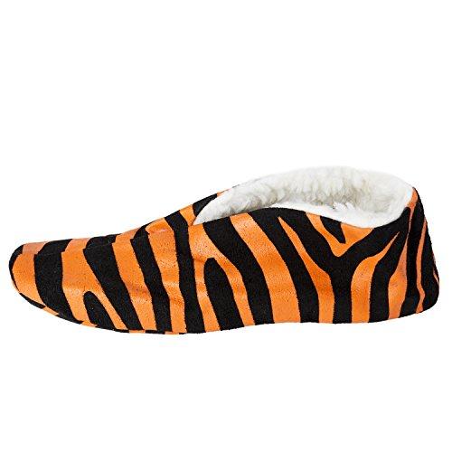 In Scamosciata Brubaker Arancione Pantofole Zebra Con Pelle Uomo Stampa Divertenti Da d4AqxAw