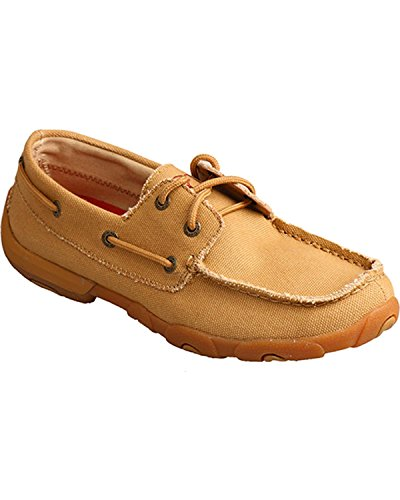 - Twisted X Boots Womens Canvas Bomber Boat Shoes 9.5 B Khaki