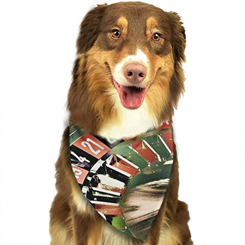 Pet Scarf Gambling Roulette Wheel Triangle Bibs Bandanas Kerchief Set Pets Costume Decoration for Small Medium Large Dogs -