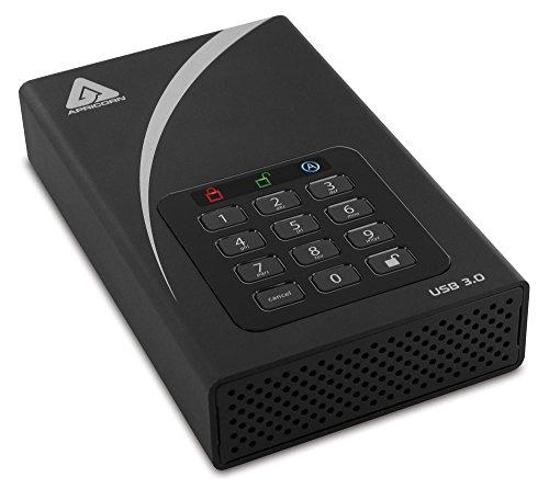 Apricorn 12TB Aegis Padlock DT Secure USB 3.0 256-Bit AES Hardware Encrypted Desktop Drive (ADT-3PL256-12TB)