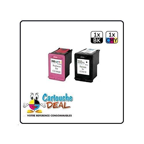 HP 300XL-Lote de 2 cartuchos de tinta para HP Photosmart C4700 ...