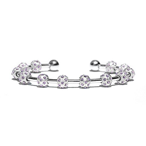 Chelsea Charles Count Me Healthy Crystal Journal Bracelet - Lilac