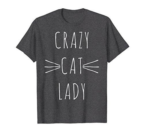 Mens Crazy Cat Lady T-shirt cute kitten shirts Small Dark (Crazy Cat Lady Shirt)