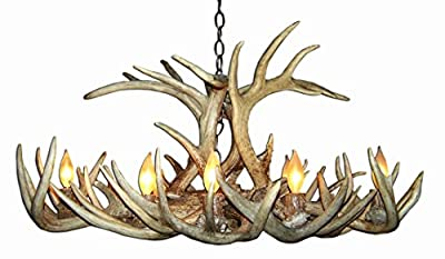 Whitetail Deer Oblong Antler Chandelier Light