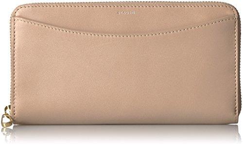 Skagen Continental Zip Clutch Wallet Beige by Skagen