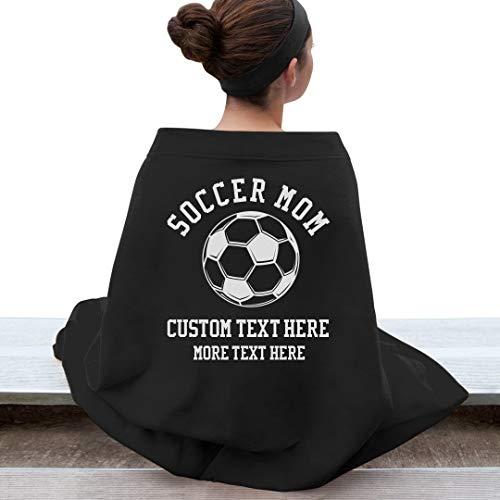Custom Soccer Mom Blanket: Gildan DryBlend Stadium Blanket