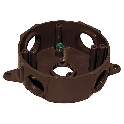 Sigma Electric 143854BR 1/2-Inch 5 Hole Round Box, Bronze