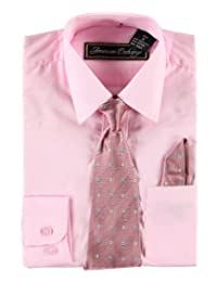 American Exchange Little Boys' Dress Shirt Set