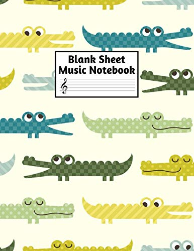 Blank Sheet Music Notebook: Easy Blank Staff Manuscript Book Large 8.5 X 11 Inches Musician Paper Wide 12 Staves Per Page for Piano, Flute, Violin, ... other Musical Instruments - Code : A4 4389 (Shepherd Staff Book)