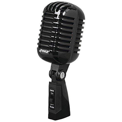 PYLE PDMICR42BK Classic Retro Vintage-Style Dynamic Vocal Microphone (Black) consumer electronics