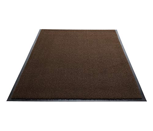 Guardian Silver Series Indoor Walk-Off Floor Mat, Vinyl/Polypropylene, 3'x10', Walnut