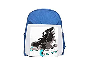 Roller skate. Printed Kid 's Blue Backpack, Cute de mochilas, Cute
