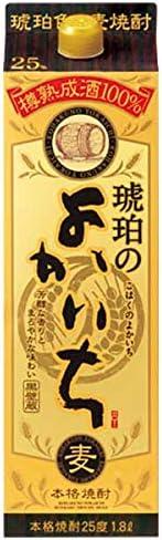 本格焼酎 琥珀のよかいち 麦 25度 [紙パック] 1.8L 1800ml x 6本 (ケース販売) [宝酒造/日本/宮崎県]