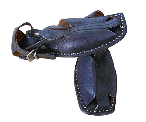 Sandales Indien en de Casual hommes cuir kalra Creations Noir traditionnel w86qBnqI7