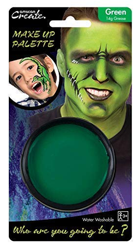 Ladies Mens Boys Girls Green Face Paint Halloween Monster Witch Fancy Dress Costume Outfit Make Up Accessory -