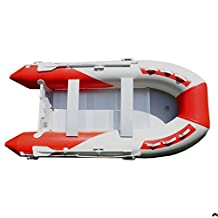 KODIAK Adventure 12-Feet Inflatable Boat, White/Red