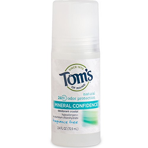 Tom's Of Maine Mineral Confidence Deodorant Crystal, Fragrance Free 2.40 oz ( Pack of 2) (Crystal Maine)