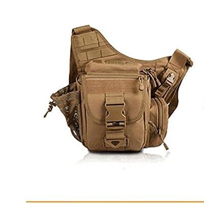 ZYT Camping sac tactique Camo sac a bandouliere armée fan mise à niveau selle Super sac sac sport sac à main . color mud