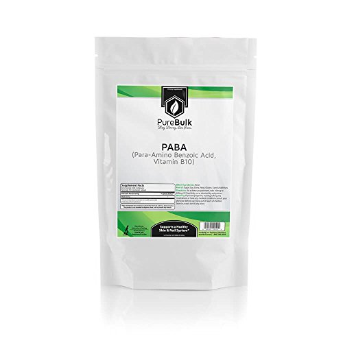 PureBulk Para-AminoBenzoic Acid (PABA) (Vitamin B10) Container:Bag Size:500g Powder