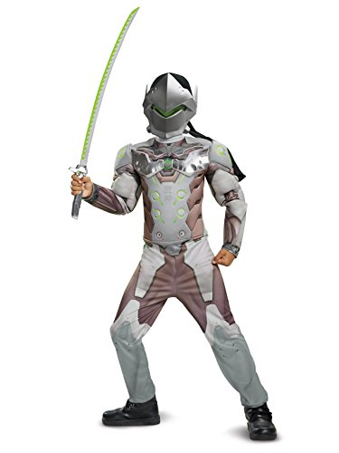 Disguise Genji Classic Muscle Child Costume, Gray, Size/(4-6) -
