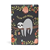 CIXUAN Cute Cartoon Sloth Follow Your Dreams Pattern Book Covers Hardcover Textbooks Notebook Decor