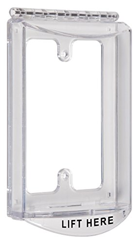 Safety Technology International, Inc. STI-6519 Single-Gang Hinged Clear Protective Polycarbonate Cover Multipurpose with Mounting (Single Gang Enclosure)