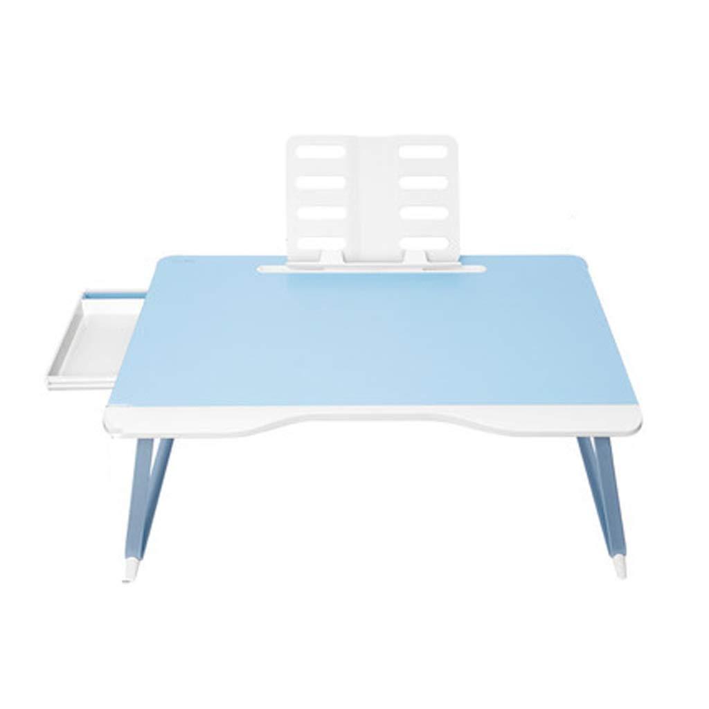Hzpxsb Folding Computer Desk Portable Desk with Desktop Tablet Bracket Tray Sofa, Bed, Terrace, Balcony, Garden